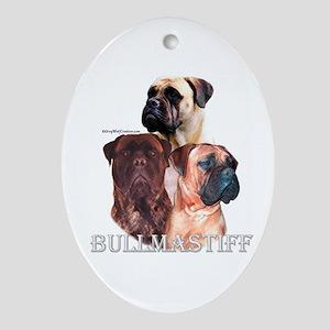 Bullmastiff 1 Oval Ornament