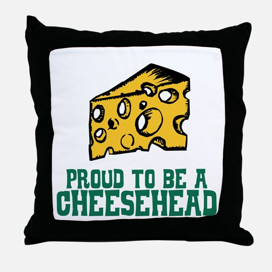 Proud Cheesehead Throw Pillow