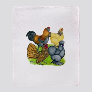 Purebred Bantam Quartet Throw Blanket