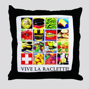 Vive la Raclette! Throw Pillow