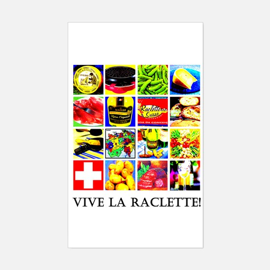 Vive la Raclette! Rectangle Decal
