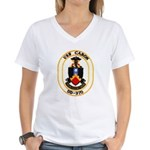 USS CARON Women's V-Neck T-Shirt