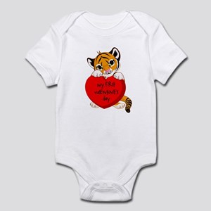 My First Valentines Day Tiger Infant Bodysuit