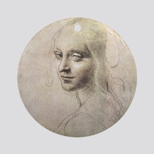 Study of Head of a Girl Ornament (Round)