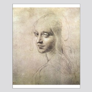 Study of Head of a Girl Small Poster