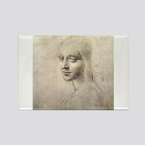 Study of Head of a Girl Rectangle Magnet