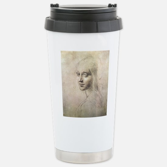 Study of Head of a Girl Stainless Steel Travel Mug