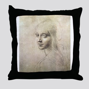 Study of Head of a Girl Throw Pillow