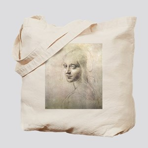 Study of Head of a Girl Tote Bag