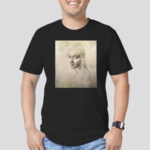 Study of Head of a Girl Men's Fitted T-Shirt (dark