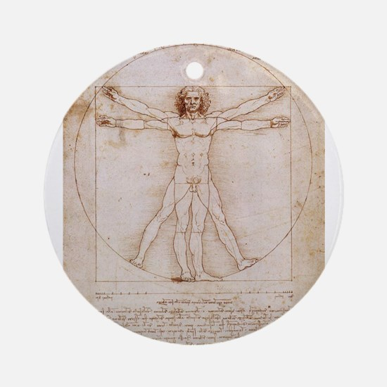 Vitruvian Man Ornament (Round)