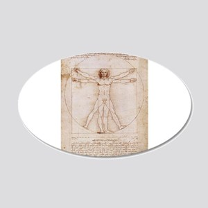 Vitruvian Man 22x14 Oval Wall Peel