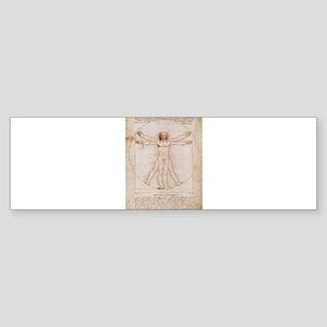 Vitruvian Man Sticker (Bumper)