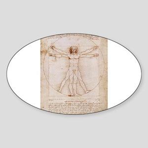 Vitruvian Man Sticker (Oval)