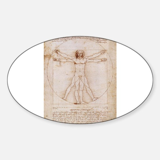 Vitruvian Man Sticker (Oval)
