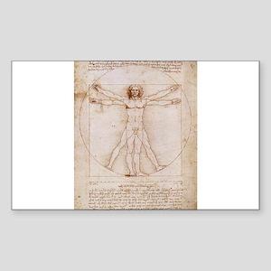 Vitruvian Man Sticker (Rectangle)