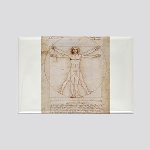 Vitruvian Man Rectangle Magnet