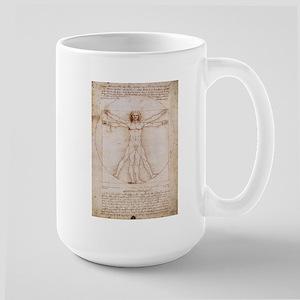 Vitruvian Man Large Mug