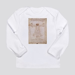 Vitruvian Man Long Sleeve Infant T-Shirt