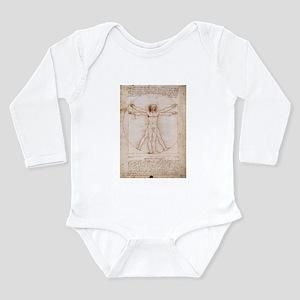 Vitruvian Man Long Sleeve Infant Bodysuit