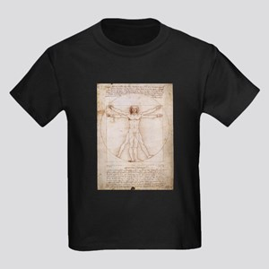 Vitruvian Man Kids Dark T-Shirt