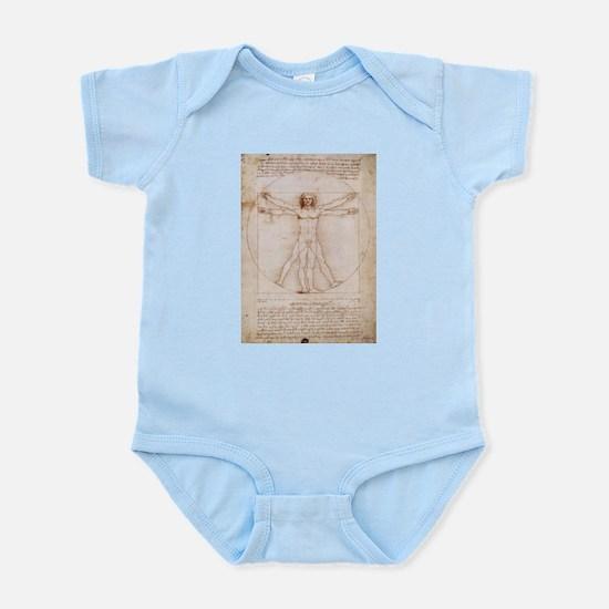 Vitruvian Man Infant Bodysuit