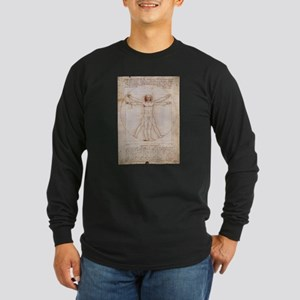 Vitruvian Man Long Sleeve Dark T-Shirt