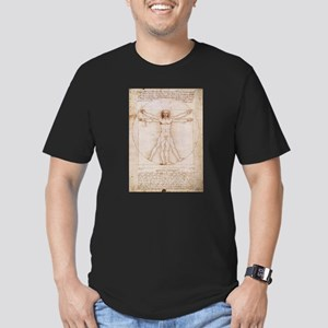 Vitruvian Man Men's Fitted T-Shirt (dark)
