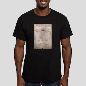 Vitruvian Man Men's Fitted T-Shirt (dark)