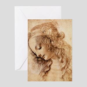 Womans Head Greeting Card