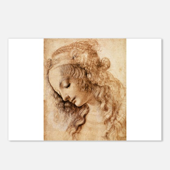 Womans Head Postcards (Package of 8)