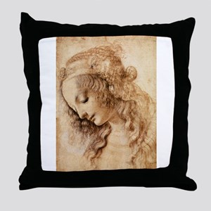 Womans Head Throw Pillow