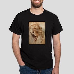 Womans Head Dark T-Shirt