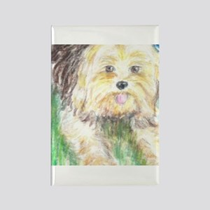 Portrait of a Yorkie Rectangle Magnet