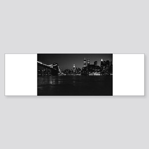 New York City Manhattan Skyline Bumper Sticker