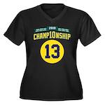 2010 Champ10nship 13 Women's Plus Size V-Neck Dark