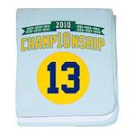 2010 Champ10nship 13 baby blanket