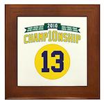 2010 Champ10nship 13 Framed Tile