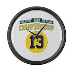 2010 Champ10nship 13 Large Wall Clock