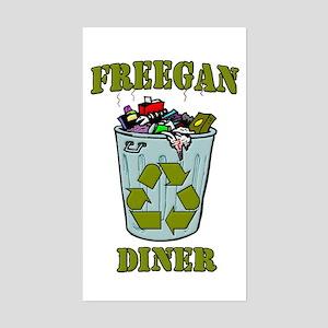 Freegan Diner Sticker (Rectangle)
