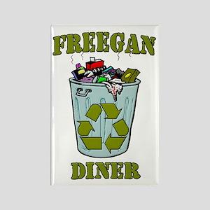 Freegan Diner Rectangle Magnet