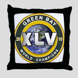 Green Bay 2010 World Champs Throw Pillow