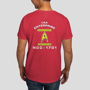 Star Trek NCC-1701 white Dark T-Shirt