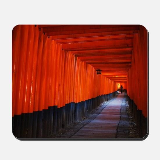 Torii Gates in Kyoto, Japan - Mousepad