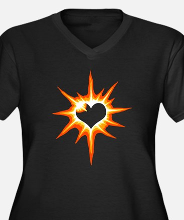 Total Eclipse of The Heart Plus Size V-Neck TShirt
