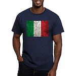 Italy Flag Men's Fitted T-Shirt (dark)