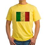 Italy Flag Yellow T-Shirt