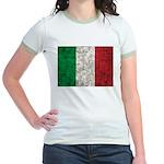 Italy Flag Jr. Ringer T-Shirt