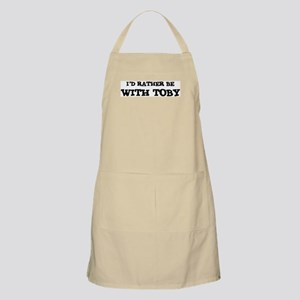 With Toby BBQ Apron