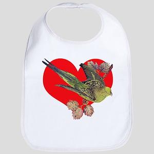 Parakeet Love Bib